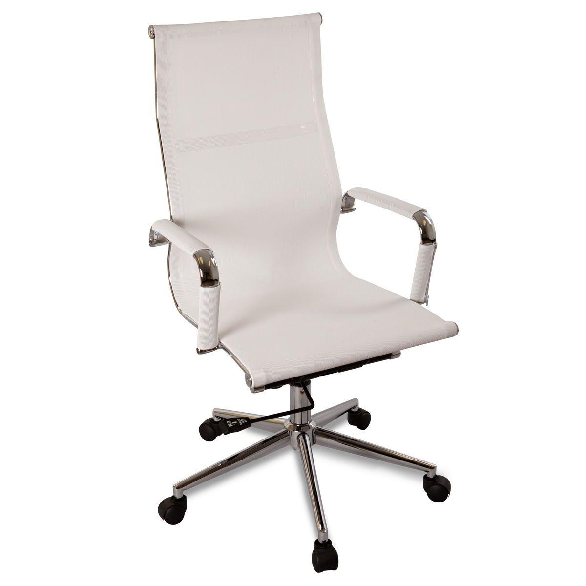 Cadeira de Escritório Modelo Eames Esteirinha Mesh Encosto Alto + Rodinhas