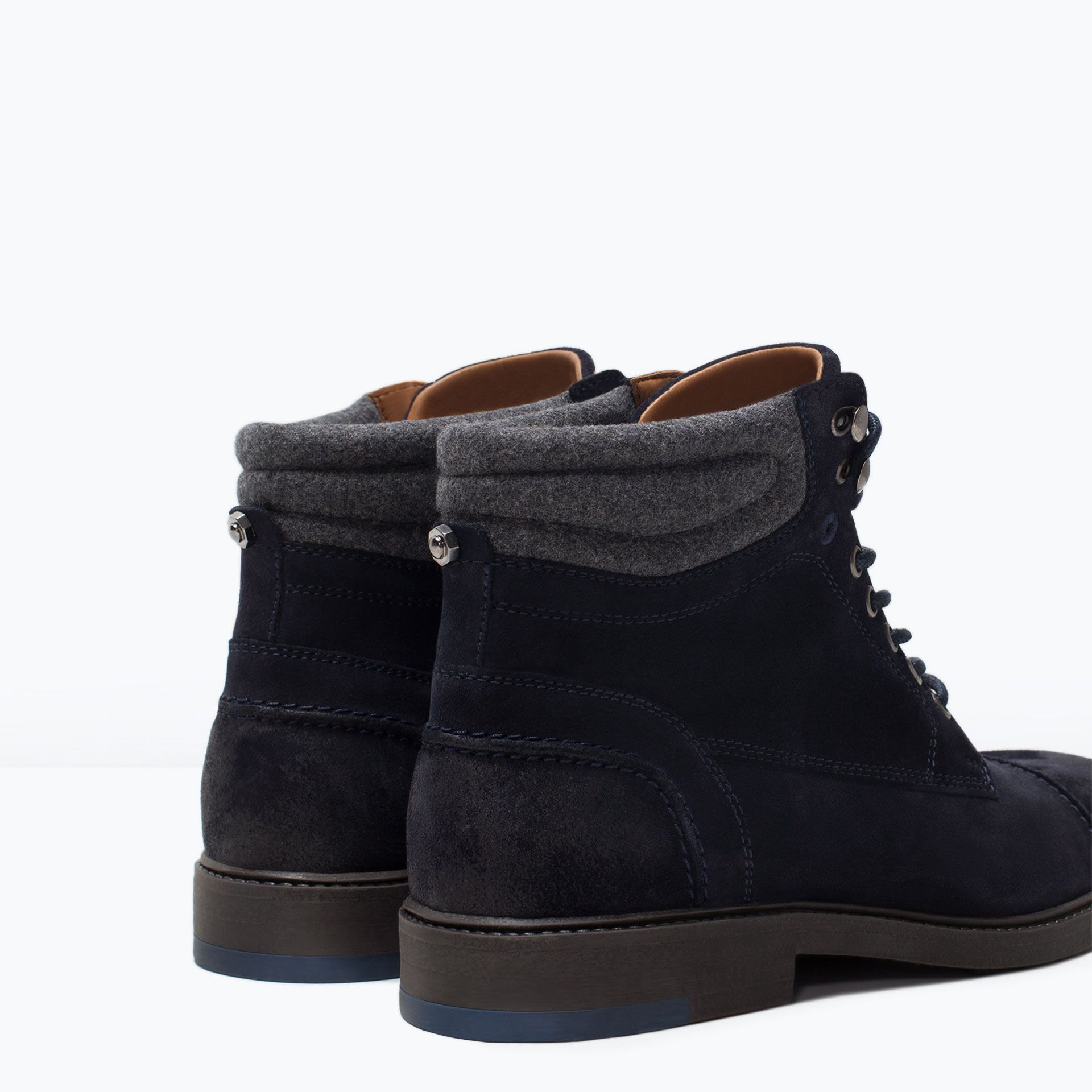 SUEDE WORKER BOOT - Shoes - MAN | ZARA United States