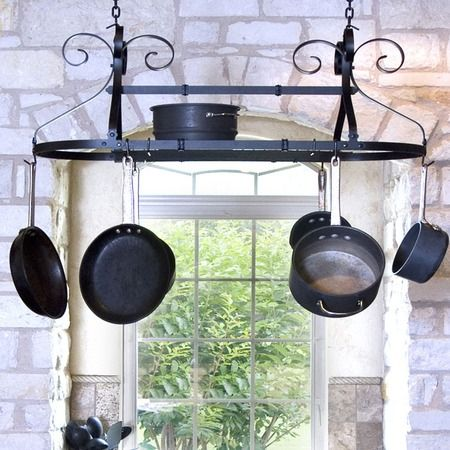I pinned this Parker Expandable Hanging Pot Rack from the Tidy Kitchen event at Joss and Main!