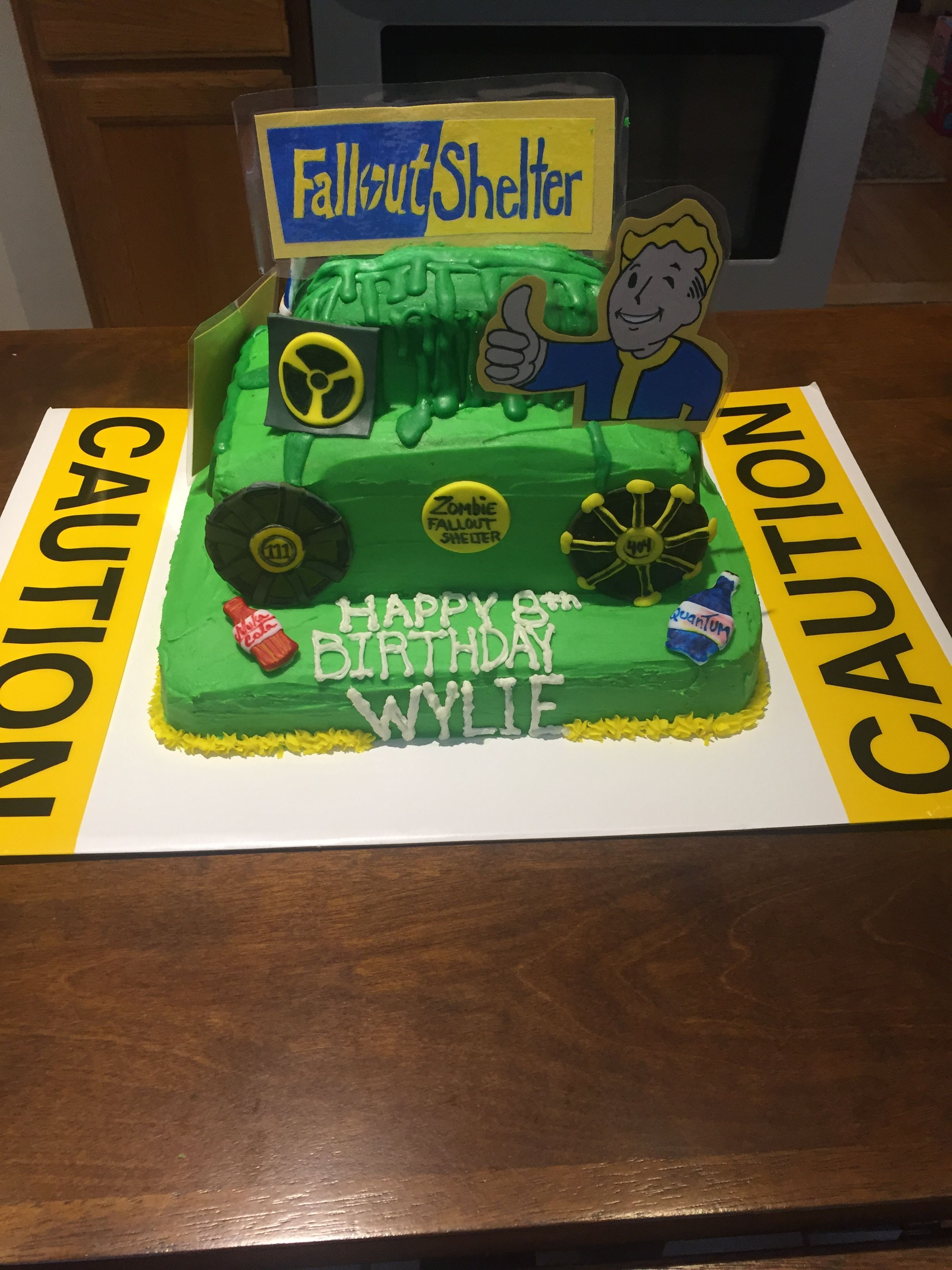 Fallout Shelter Birthday Cake Fallout Shelter Vault Boy