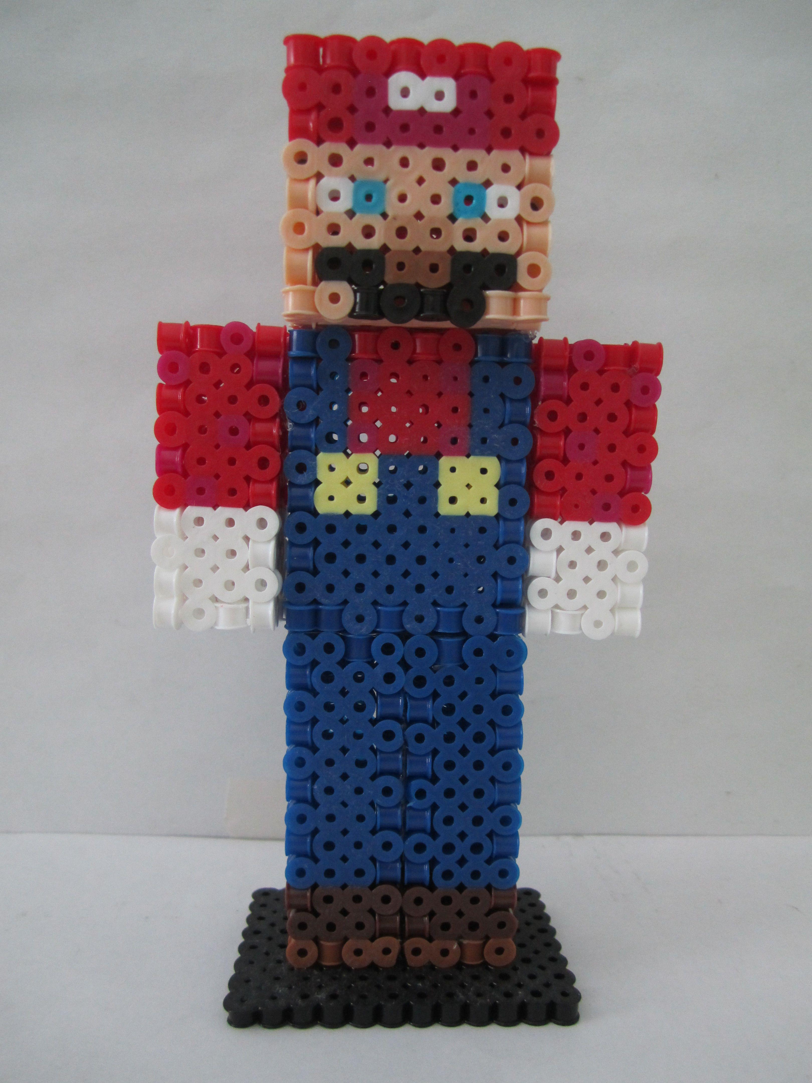9D Mario Minecraft Skin Perler Beads by Angela Albergo  Perler