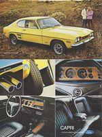 1972 Mercury Ford Capri 2-page Vintage Advertisement Print Car Ad J405
