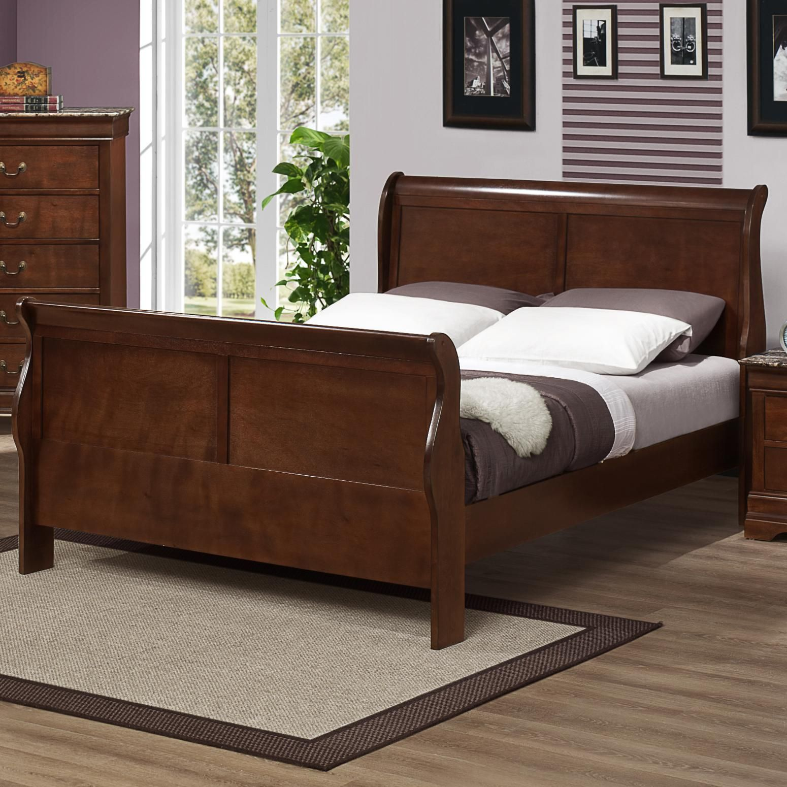 Marseille King Sleigh Bed By Austin Group Sleigh Beds Rustic