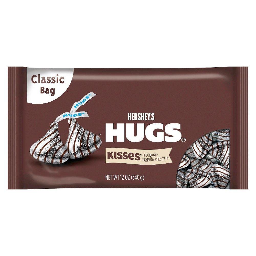Hershey S Hugs Milk Chocolate Hugged By White Creme 12 Oz