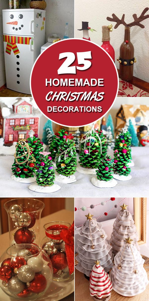 25 homemade christmas decoration ideas use these homemade ideas for holiday decorating on the cheap - Homemade Christmas Decorations Ideas