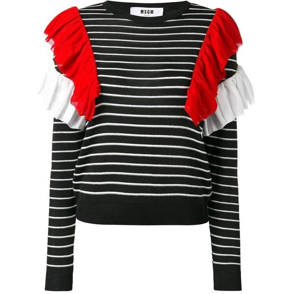 multicolor stripe long sleeve sweater Msgm Cheap Huge Surprise Best Store To Get QFr8MjB