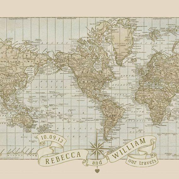 Personalized Anniversary Pushpin World Map.Push Pin Map Personalized World Pushpin Travel Map Customized