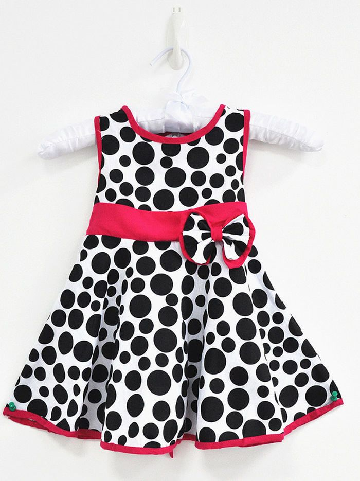 8c743e535d75 1pc Baby Girl Toddler Kids Children Cotton Dot Cute Summer Bowkot Dress  1-5Y  DressyEverydayHoliday