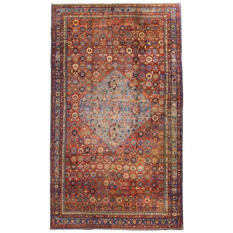 Antique 19th Century Persian Bidjar Rug Large For Sale Vintage Persian Rug Persian Rug Rugs