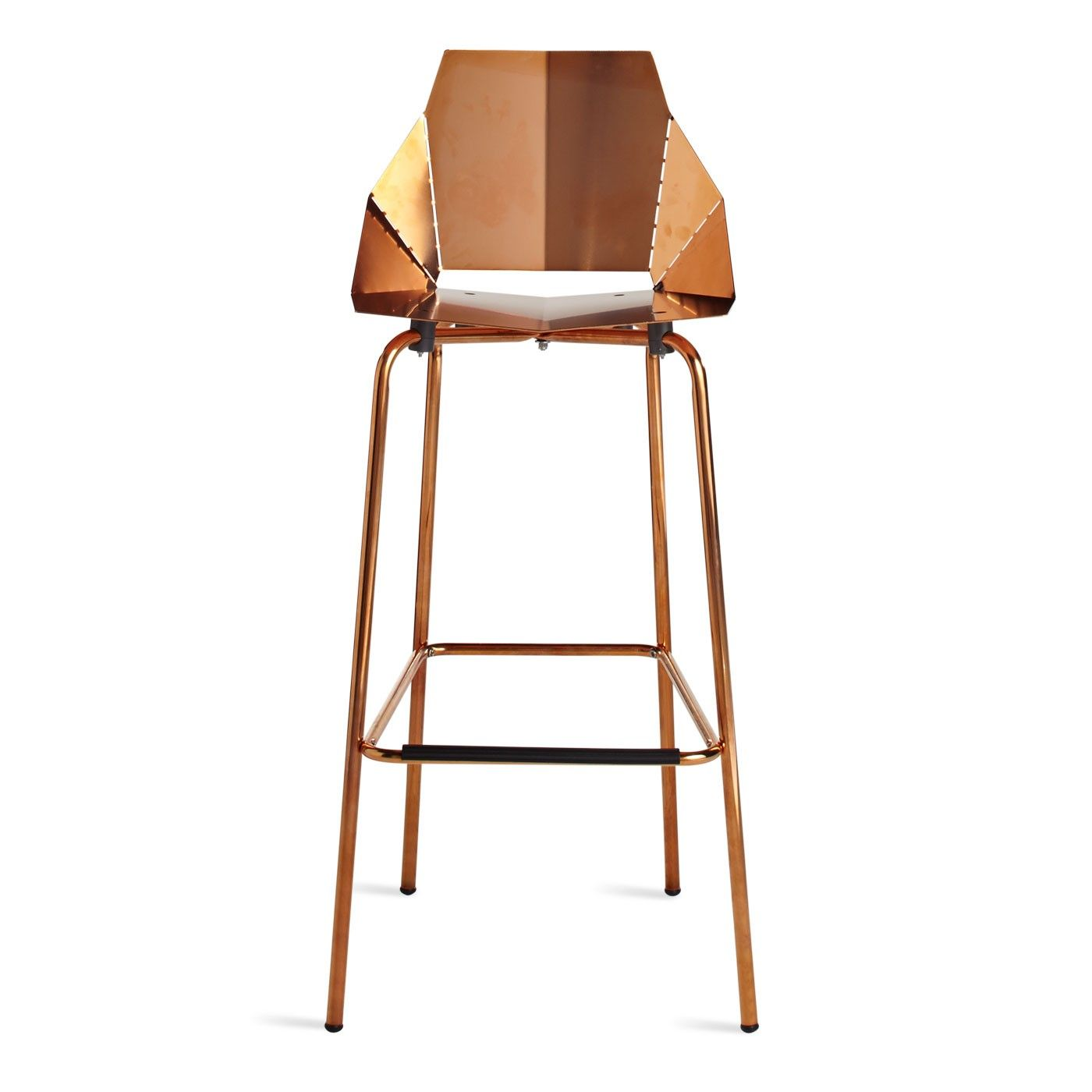 Copper Real Good Barstool Modern Barstools & Seating Blu Dot