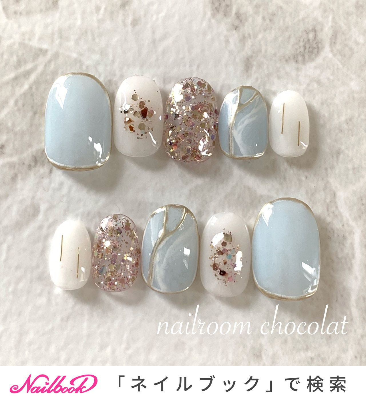 夏/梅雨/七夕/海/ハンド - nailroom*chocolatのネイルデザイン[No.4320959]|ネイルブック