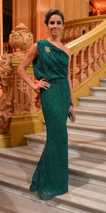 Carolina Herrera Green Lace Dress