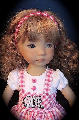 "Kitty-Cat Dress & Headband- fits 13"" Little Darling by Dianna Effner"