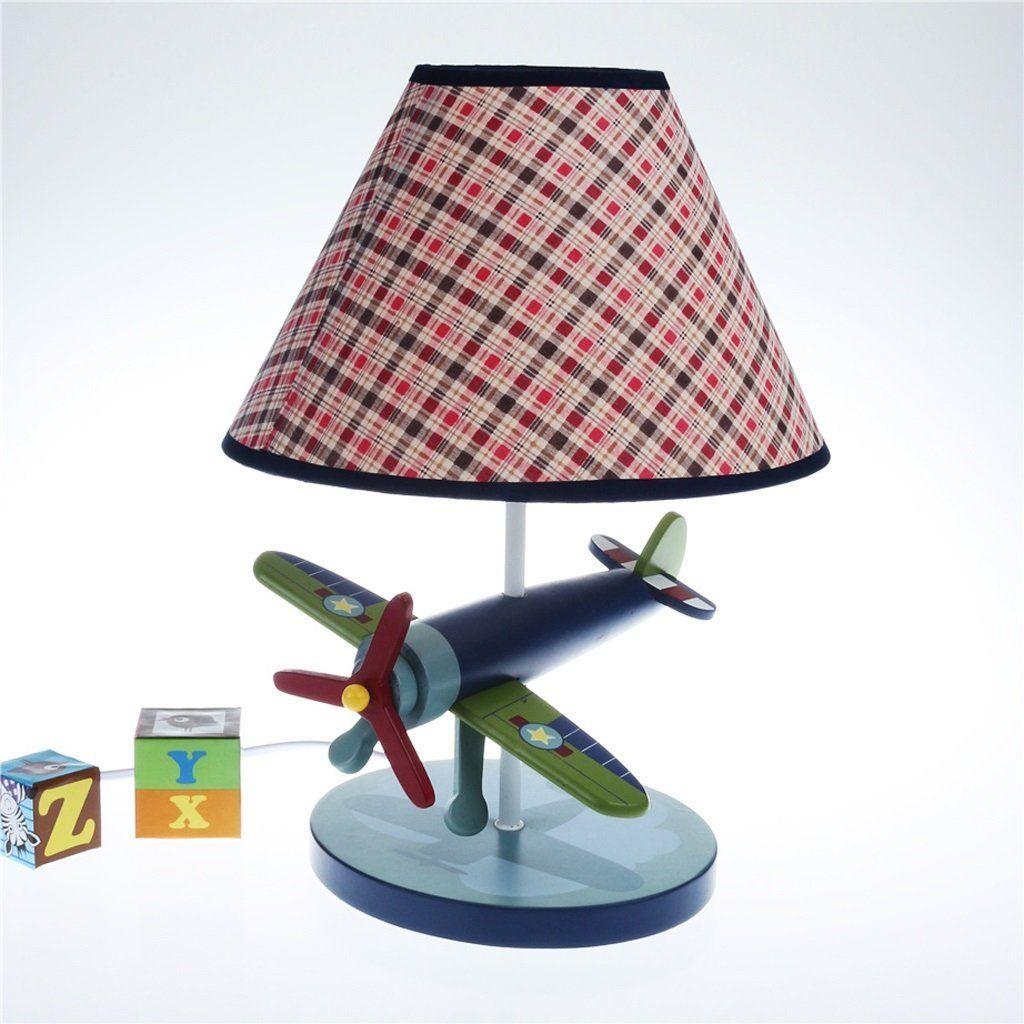 Kreative Holz Flugzeug Lampe, moderne LED-Energiesparlampen ...