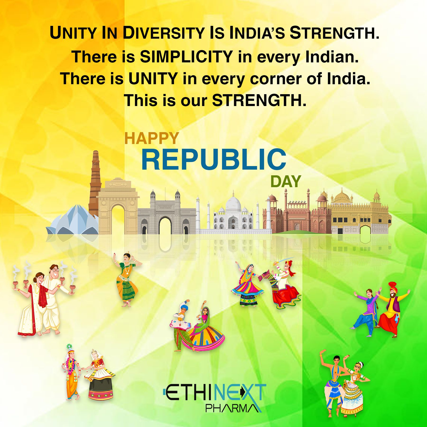 Unity in diversity is India's strength. There is