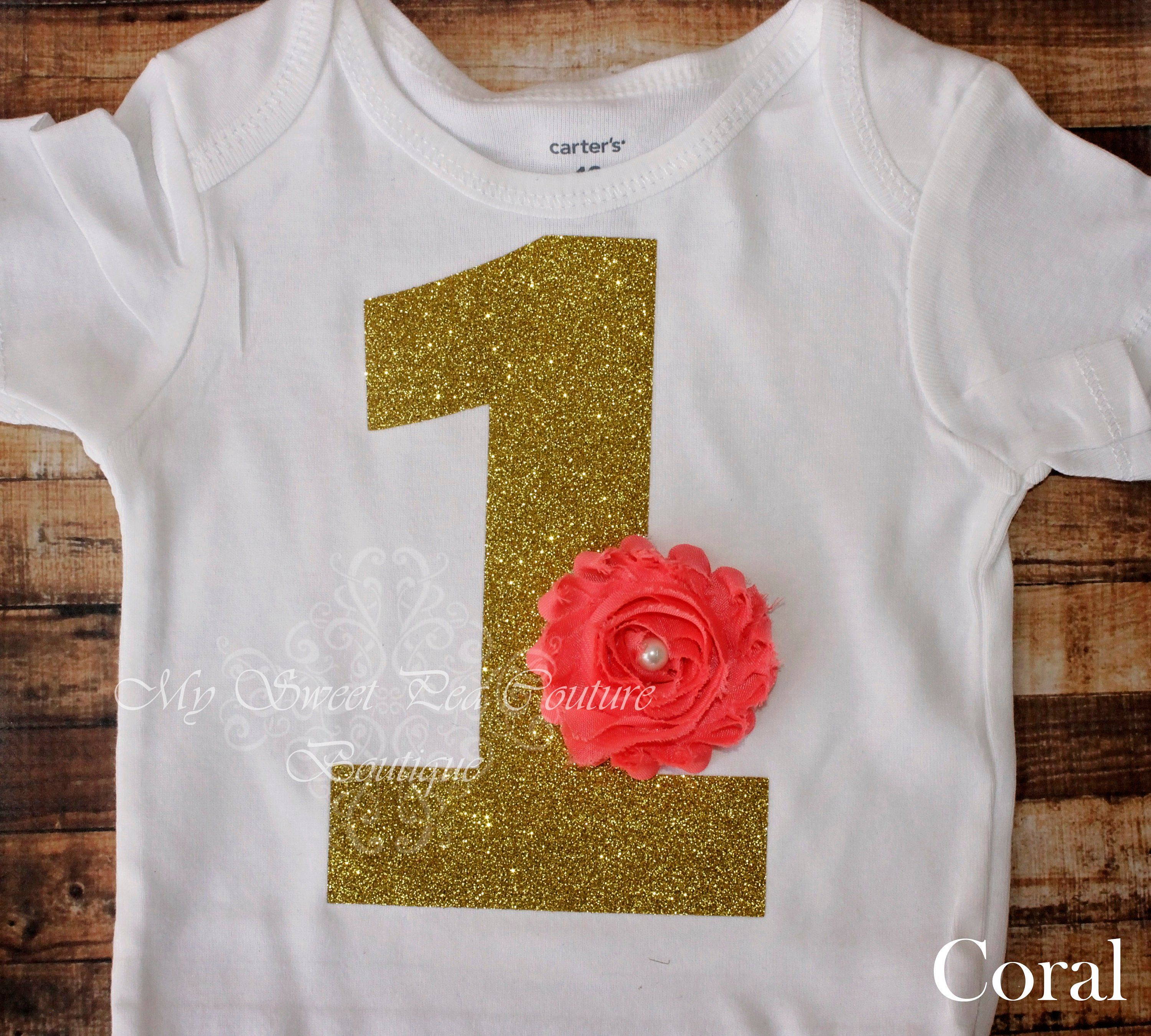 Silver One Cake Smash Outfit 1 1st Birthday Bodysuit with Flower 1st Birthday First Birthday Bodysuit Personalized 1st Birthday Outfit