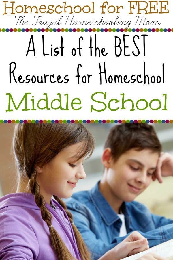 Best FREE Homeschool Printables for Middle School EVER