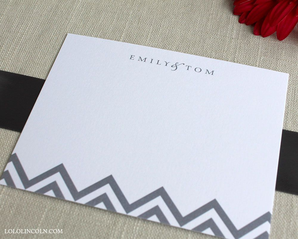 Chevron Note Cards Wedding Thank You Notes By Lolo Lincoln  Www