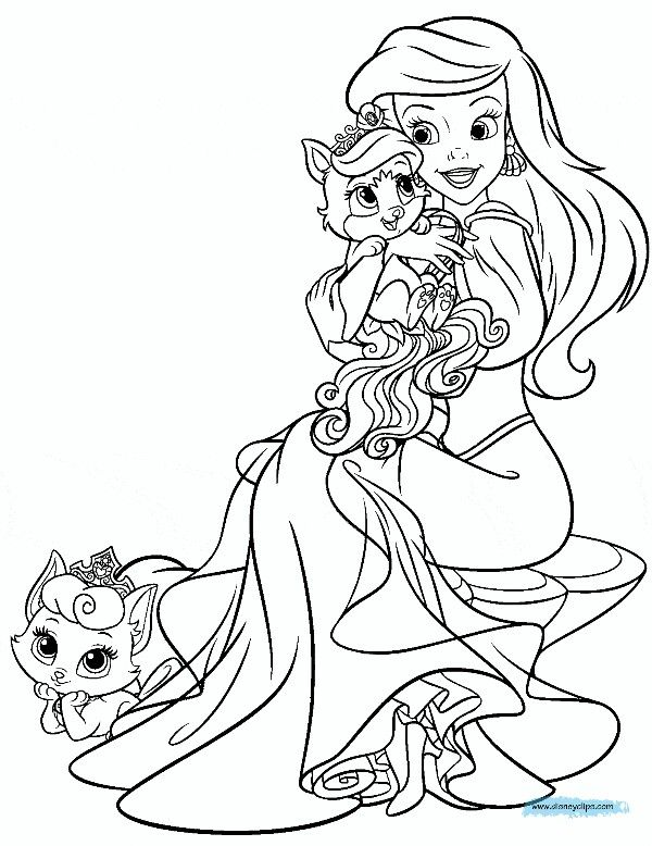 Coloring Page Ariel And Treasure Princess Coloring Pages Disney Princess Coloring Pages Princess Coloring
