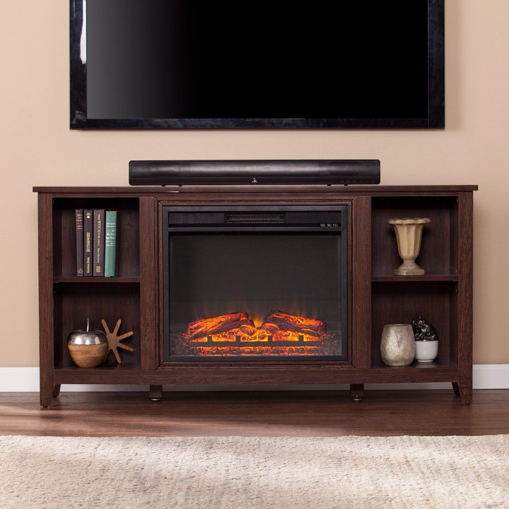 Parkdale Electric Fireplace Tv Stand In Espresso Southern