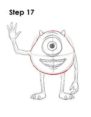 How To Draw Mike Wazowski Disney Art Drawings Drawing Cartoon