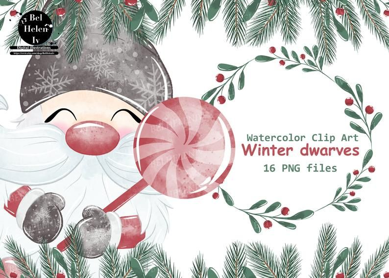 Christmas Gnomes Clipart Watercolor Gnomes Clipart Nordic Christmas Winter Cards Nursery Art Scandinavian Gnomies Dwarf Fun Png In 2021 Clip Art Holiday Artwork Christmas Tree Clipart