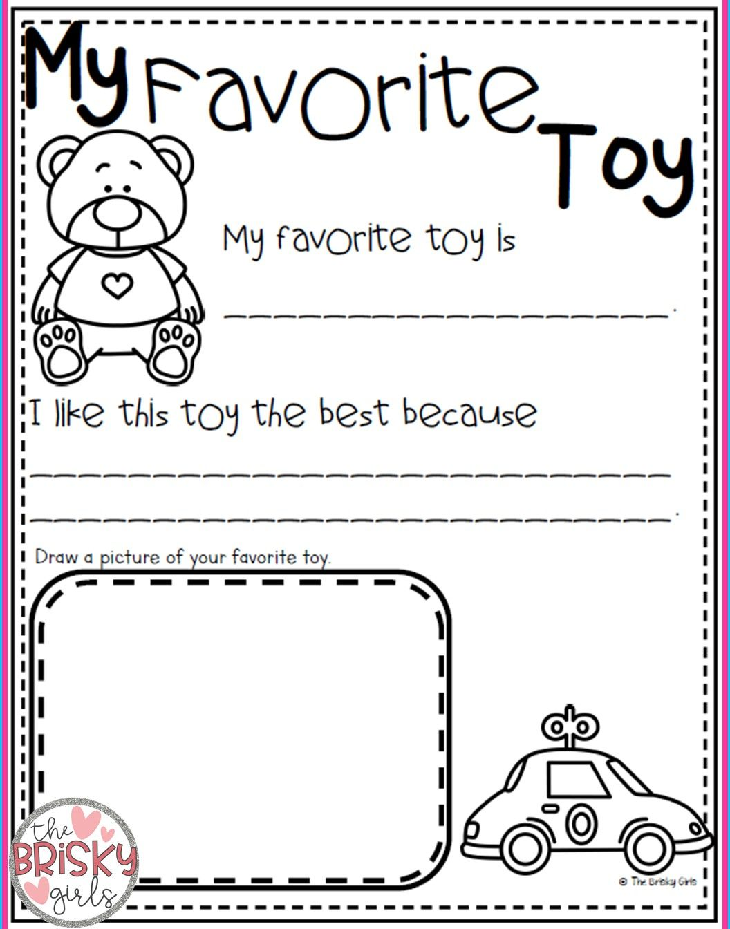 Back To School All About Me Activities First Day Of