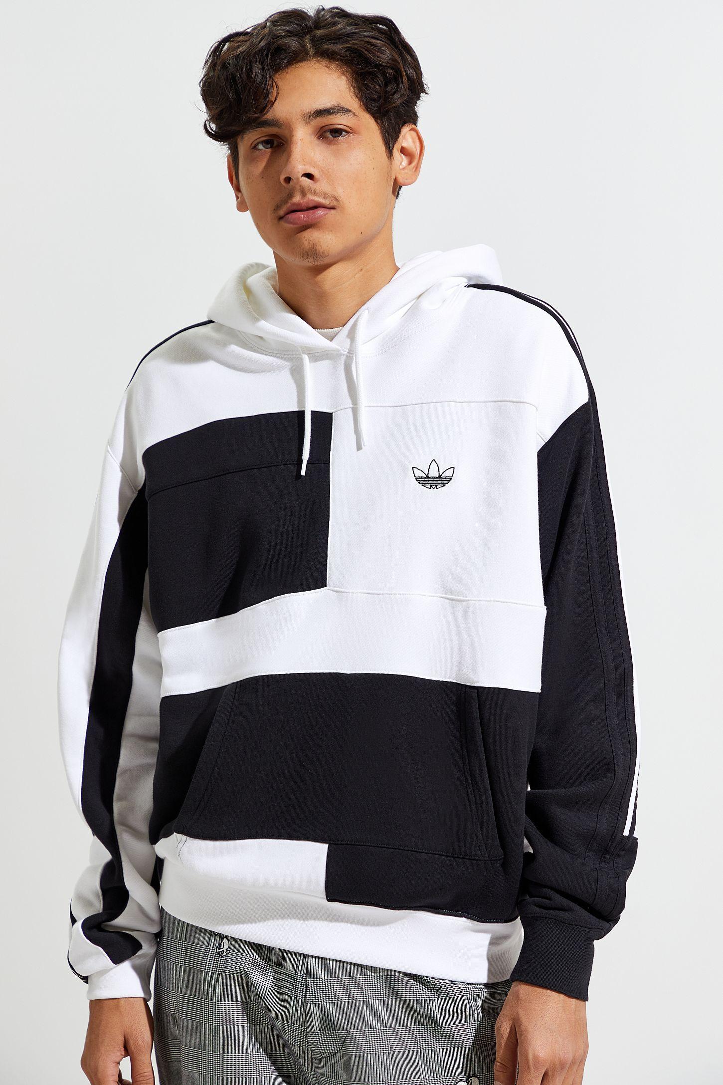 Adidas Asymmetrical Blocked Hoodie Sweatshirt Sweatshirts Hoodie Hoodies Sweatshirts [ 2175 x 1450 Pixel ]
