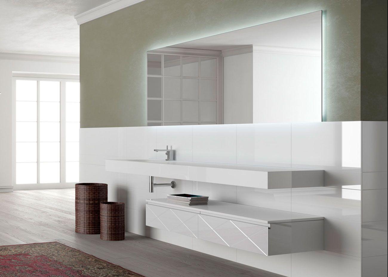 Artelinea\'s stylish white bath vanity / Regolo Collection | Bathroom ...