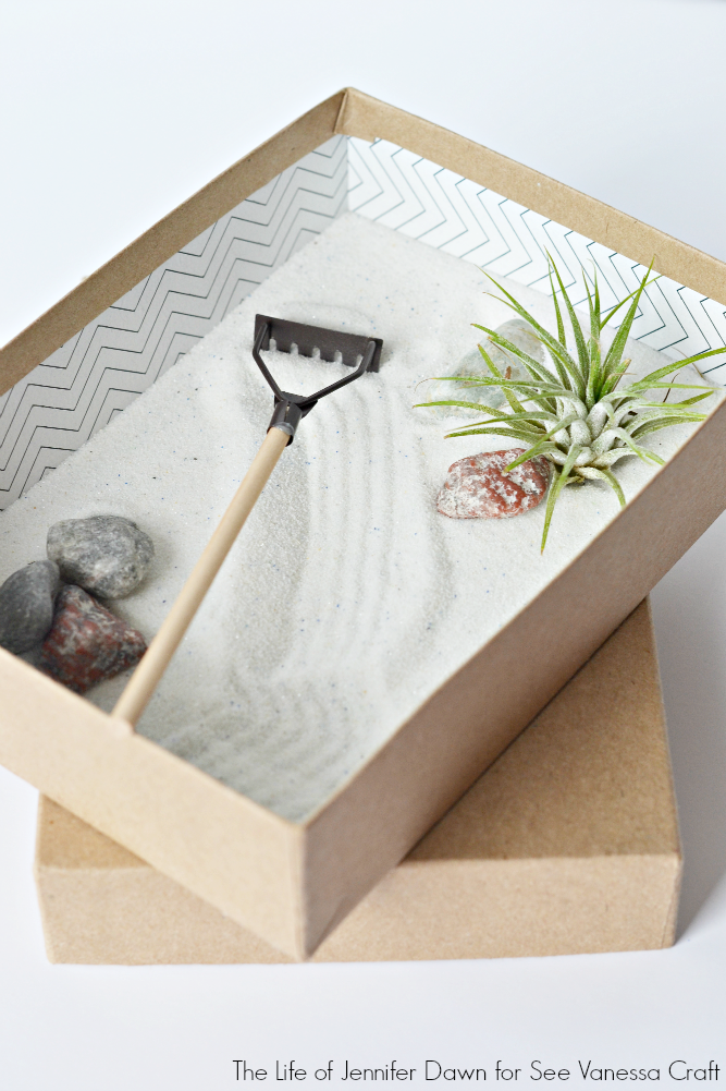 Craft: Mini Zen Garden for Father's Day #zengardens