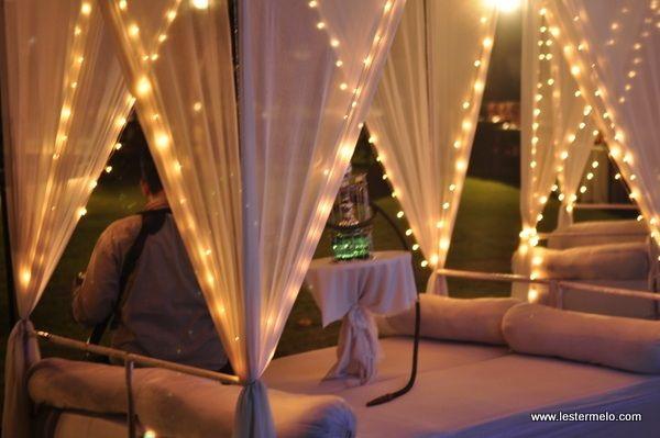 Lounge beds with sheesha