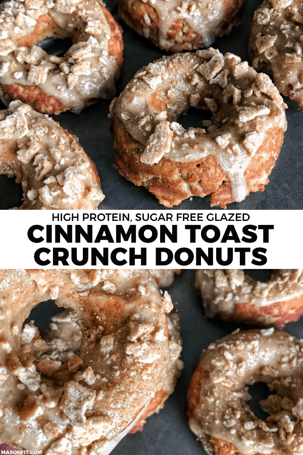 Cinnamon Toast Crunch Protein Donuts with Sugar-Free Cinnamon Glaze
