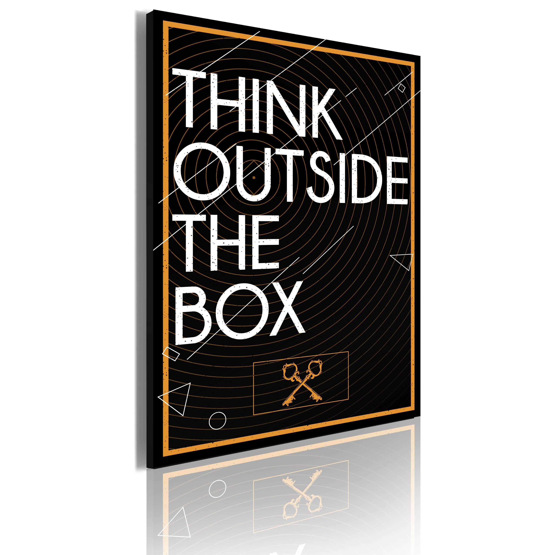 Quadro Think outside the box 50x70 Accessori per la