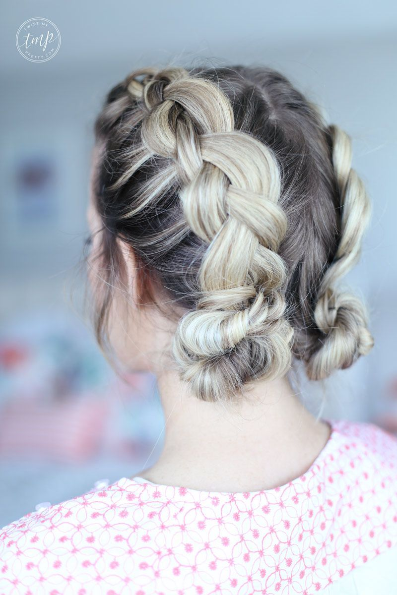 Braided up do double buns boxer braids quick hairstyles pretty