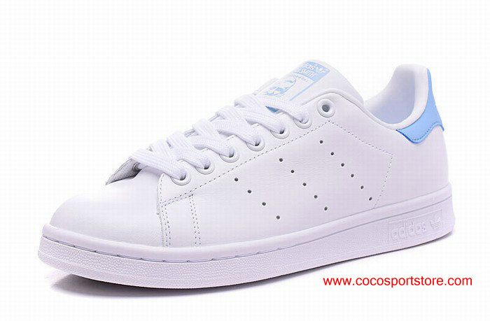 huge discount d0fca c6ee2 Womens Adidas Stan Smith W BA7673 White Sky-blue Womens Originals