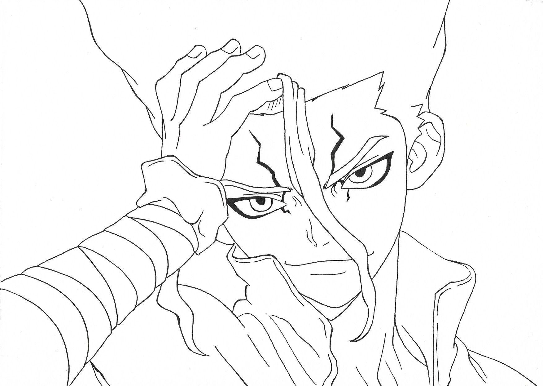 Dr Stone Senku Desenhos Novos Desenhando Esbocos Goku Desenho