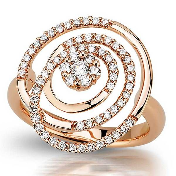Peter Lam Diamond Micro Pave Ring In 18k Rose Gold