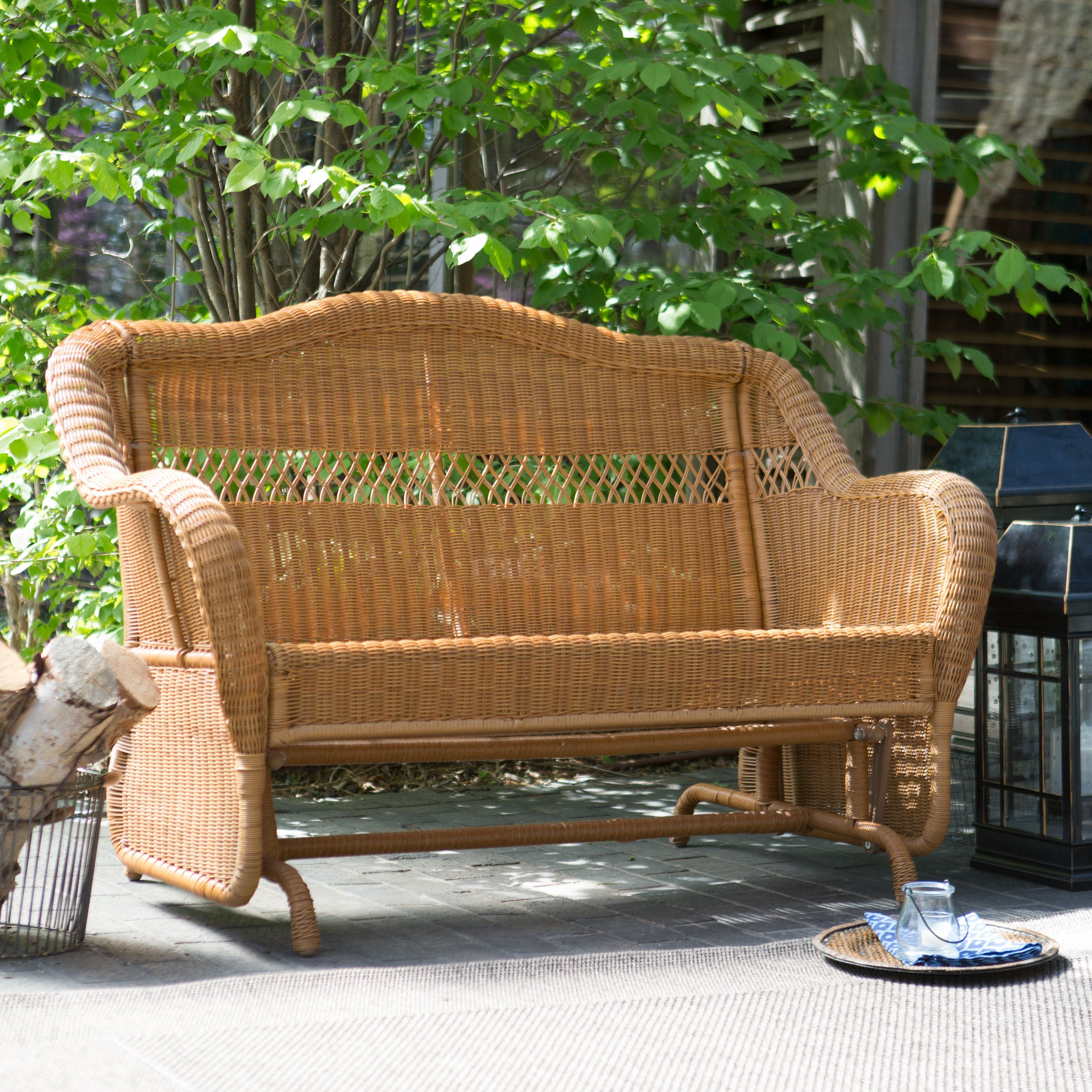 Have to have it. Coral Coast Casco Bay Resin Wicker Outdoor Glider ...