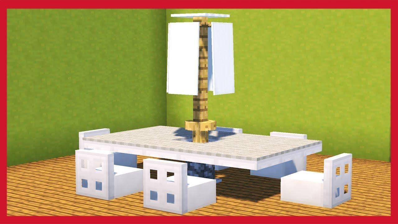 Fare Un Tavolo Da Giardino.Minecraft Come Fare Un Tavolo Da Giardino Tutorial