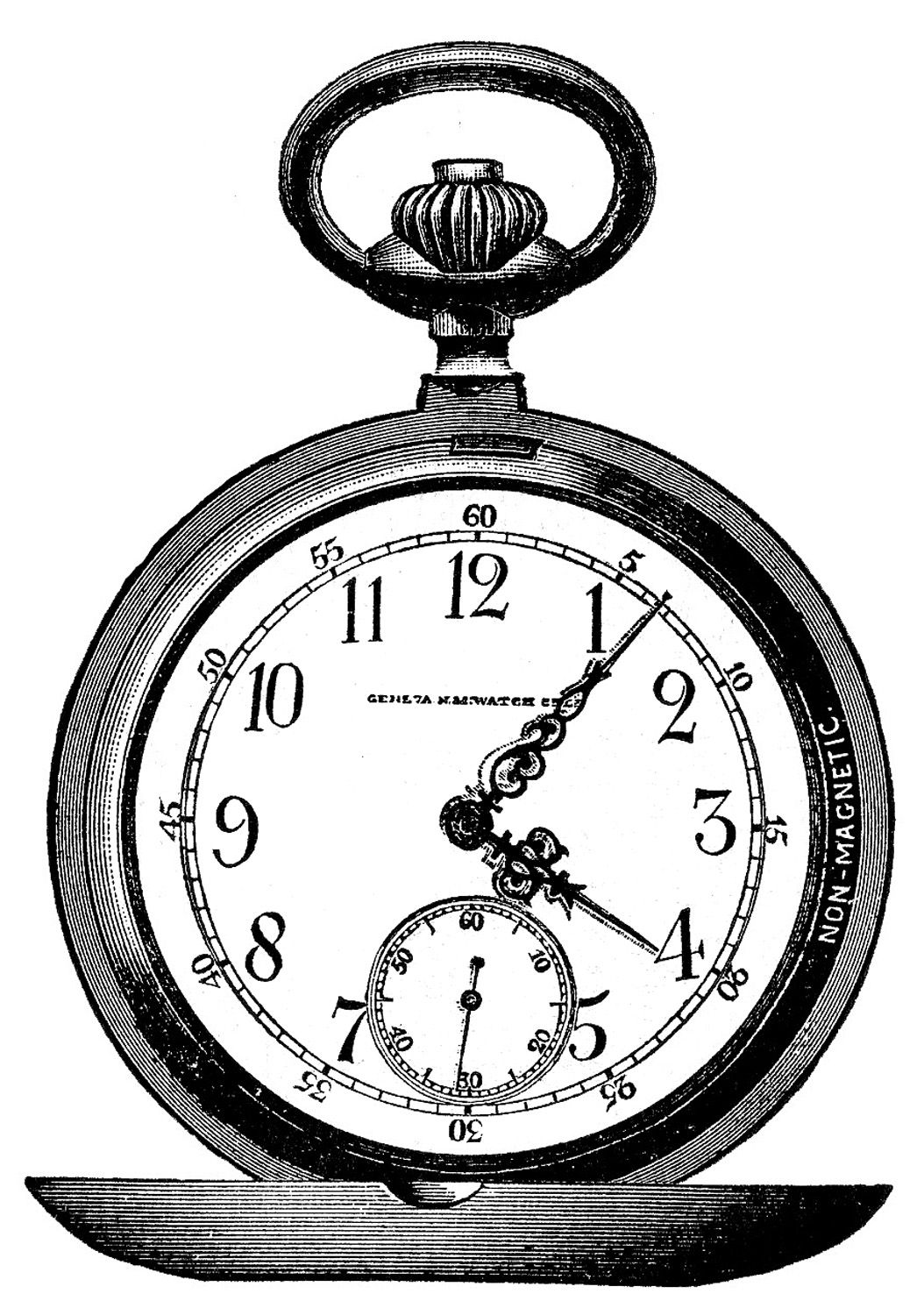 766b248c2f0 Vintage Clip Art - Marvelous Pocket Watch - Steampunk - The Graphics Fairy