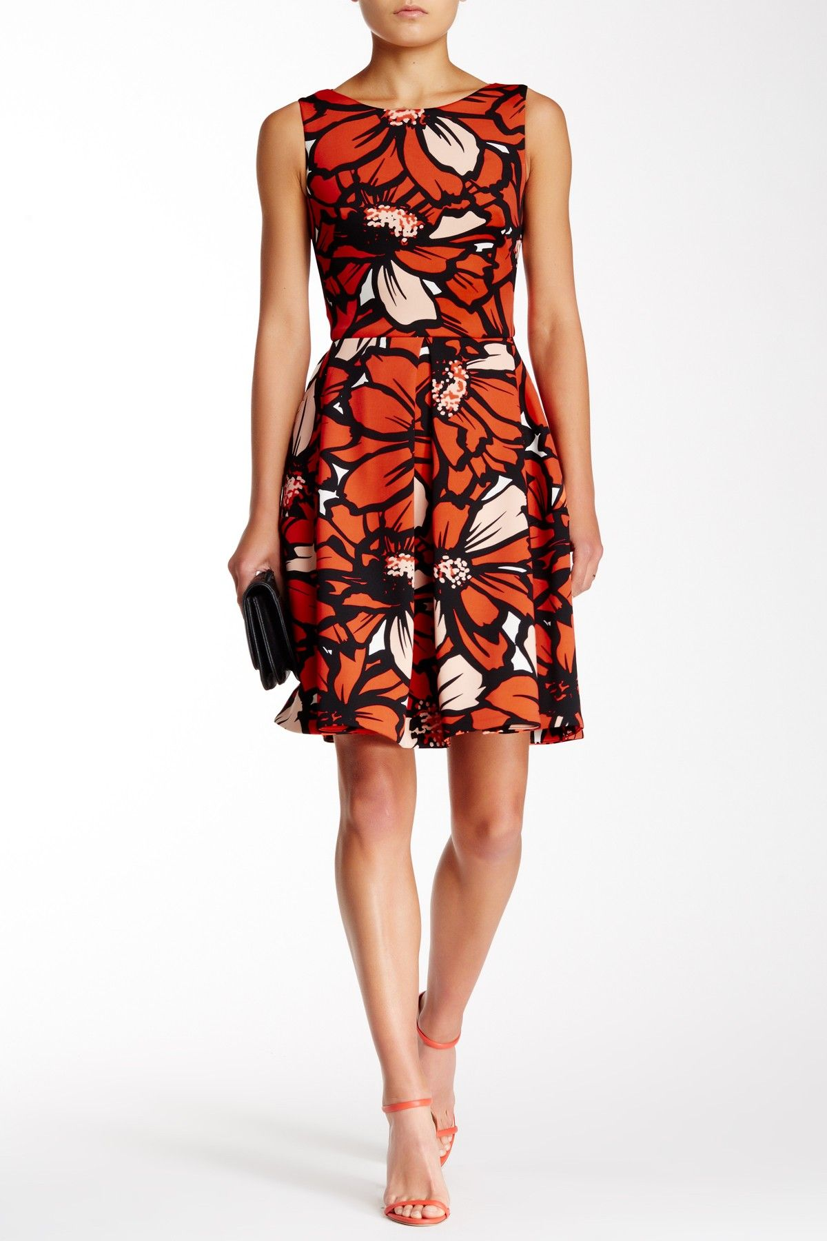 Floral Fit n' Flare Scuba Dress by Taylor on @nordstrom_rack