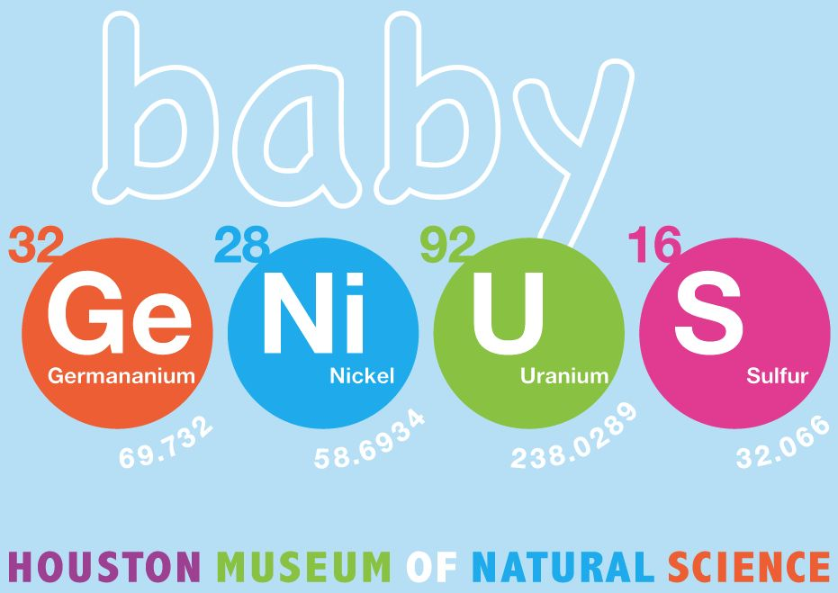 Baby Genius - 100% cotton infant tee. Designed exclusively for HMNS.