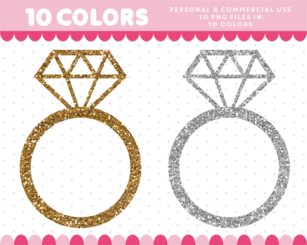 Diamond Ring Clipart In Gold And Silver Glitter Glitter Clipart Cl 1746 Jewelry Quotes Jewelry Model Jewelry Making Business