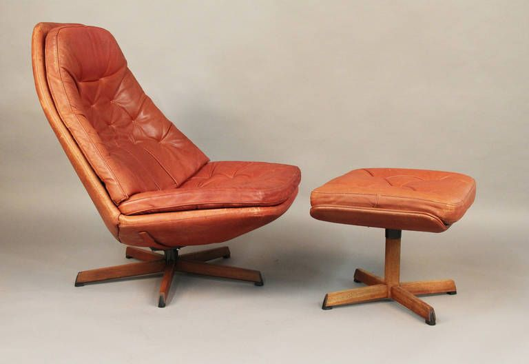 Danish Lounge Chair And Ottoman By H.W. Klein | From A Unique Collection Of  Antique And Modern Lounge Chairs At ...