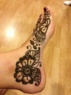 Side Of Feet Henna Foot Henna Henna Designs Feet Henna Tattoo Designs