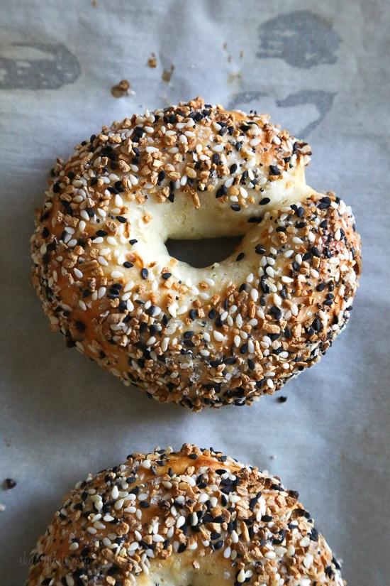 Easy Bagel Recipe Skinnytaste in 2020 Homemade bagels