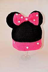Detské čiapky - čiapočka Minnie - 4704551_