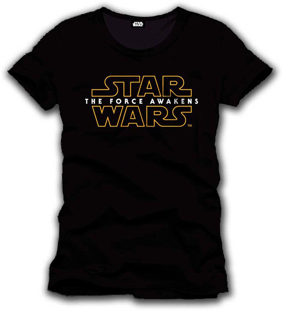 Camiseta logo Star Wars Episodio VII Estupenda camiseta con el logo perteneciente al film Star Wars Episodio VII: El Despertar de la Fuerza, 100% oficial, licenciada y fabricada en material 100% algodón.