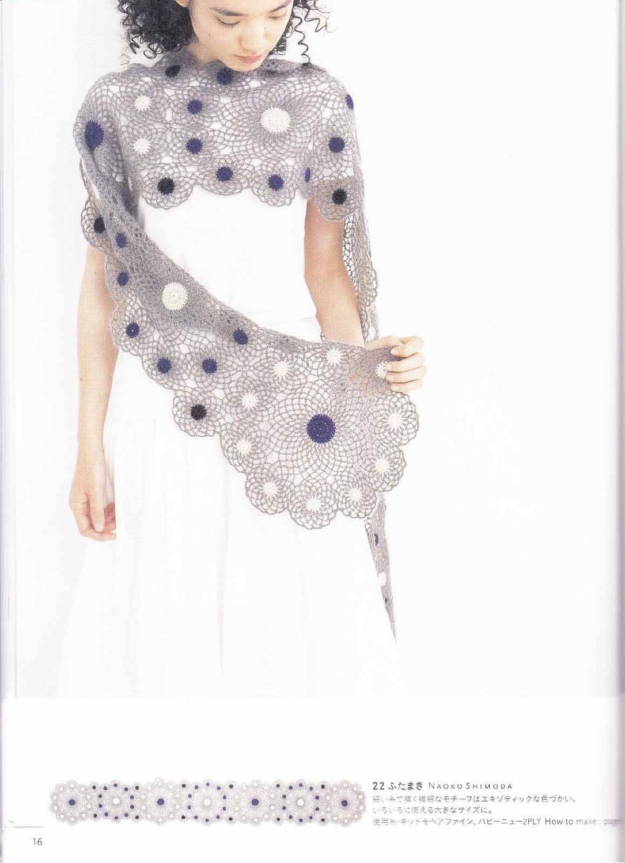 ISSUU - Crochet and knitting 50 scarves di vlinderieke | Tejido ...