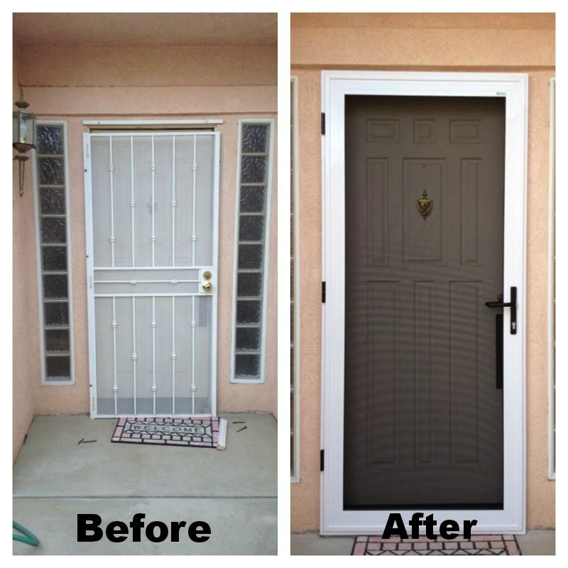 guarda security screen door before after they also have